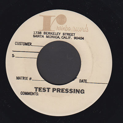Unknown Artist Test Press