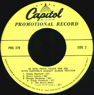 Capitol Records Artists LP Promos