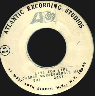 Carmen McRae & Herbie Mann