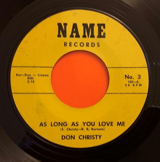 Don Christy (Sonny Bono)