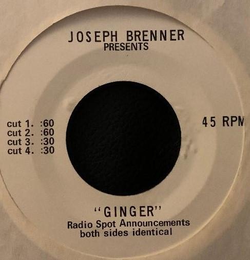 Ginger Radio Spots (1971)