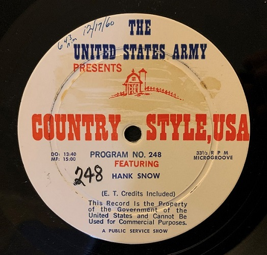 U.S. Army Country Style USA Radio Spots (1960)