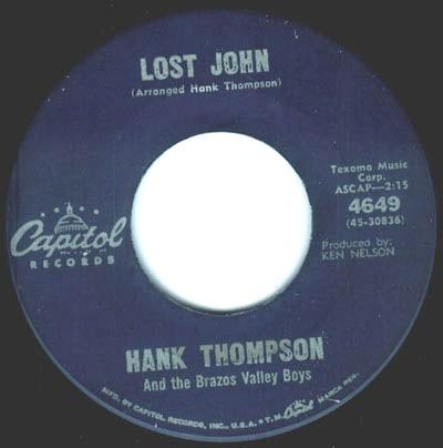 Hank Thompson & His Brazos Valley Boys