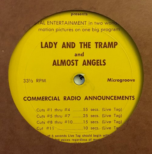 Walt Disney's Lady & The Tramp / Almost Angels (1962)
