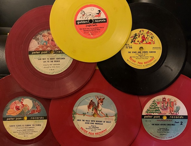 """Lot Of Six  7"""" -78rpm Kiddie Christmas Records"""