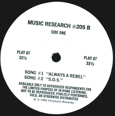 Music Research  Series #205 B