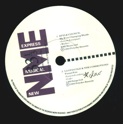 NME(New Musical Express)sampler EP