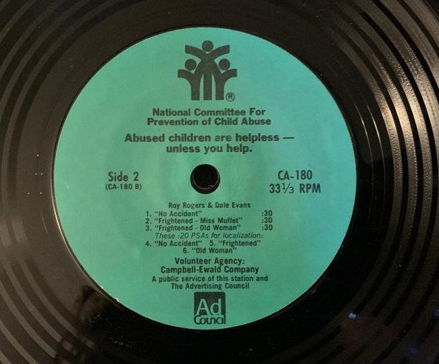 PSA(Public Service Announcement)Child Abuse w/Roy Rogers