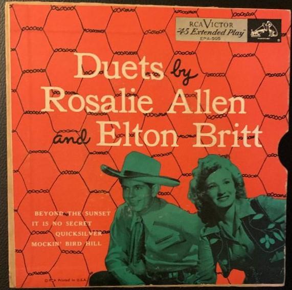 Rosalie Allen & Elton Britt