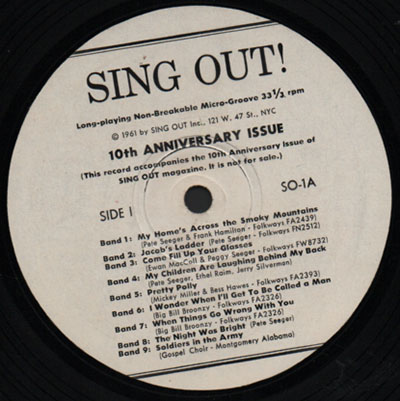 Sing Out Magazine Sampler 1961
