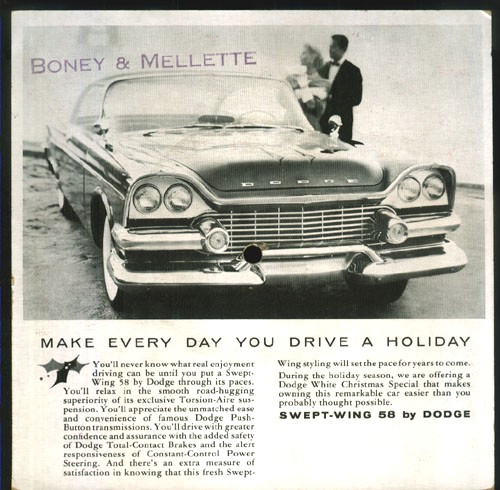MOPAR 1958 Dodge Swept-Wing Flexi Car Sales Promo!