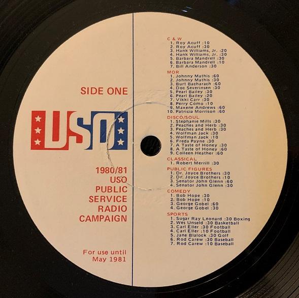 USO Public Service Announcements(PSA) -1980-81-